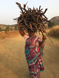 lady carrying firewood