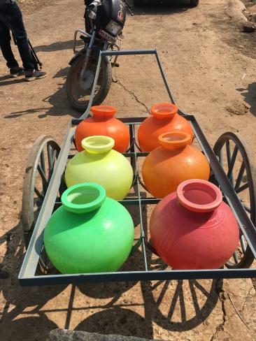 Suvarna's cart of pots