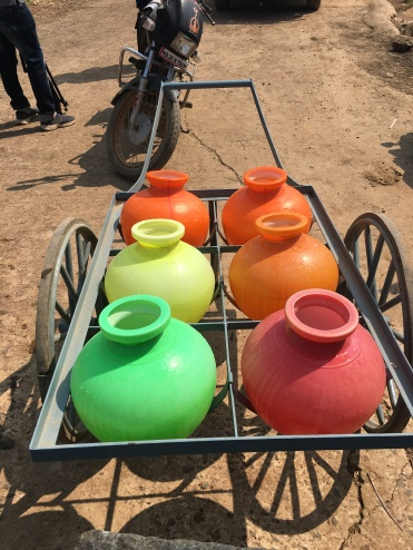 Suvarna's cart of pots